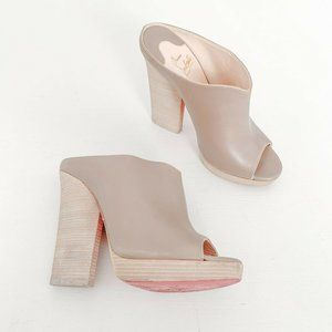 Christian Louboutin | Roche Mule 120 Taupe Size 38